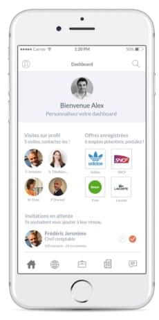 Prototypage app Viadeo