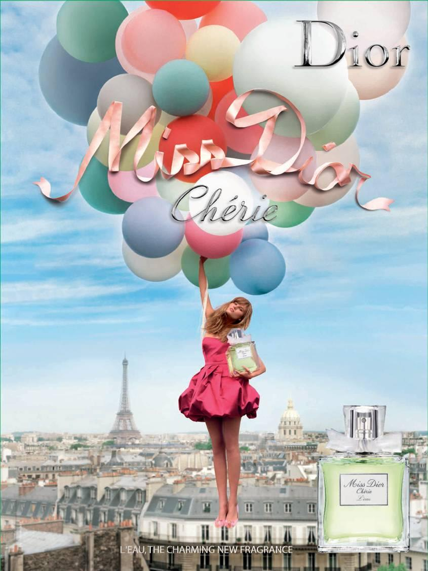 Exemple d'un support de communication print : affiche Dior