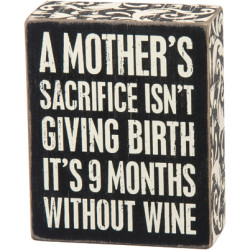 PRIMITIVES BY KATHY® BOX SIGN-MOTHER'S SACRIFICE