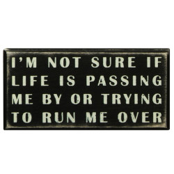 PRIMITIVES BY KATHY BOX SIGN-LIFE IS PASSING