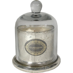 Zodax Illuminazione Domed Candle Jar - Antique Silver  French Red Currant