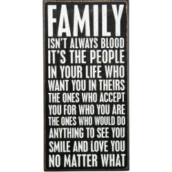 PRIMITIVES BY KATHY BOX SIGN-FAMILY ISN'T