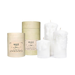 WICKED PRE-DRIPPED BONE PILLAR CANDLE