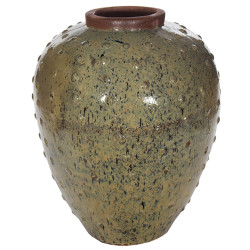 FAT URN WITH DOTS 9177