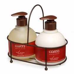CAREN PRODUCTS® Red Cocoa Sink Set Duo 14OZ.