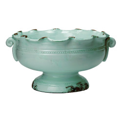 Rustic Garden Small Scalloped Footed Cachepot