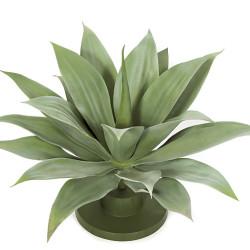 "Agave Plant On Plastic Base 17"""