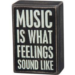PRIMITIVES BY KATHY® BOX SIGN-MUSIC IS