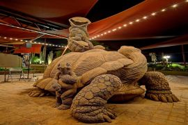 Sand Sculptures with renowned artist Ray Villafane