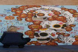 7th Annual Marigold Mural Project for Dia de Los Muertos