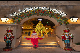 Sedona's Tree Lighting and Santa Visit at Tlaquepaque North