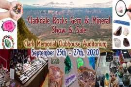 Clarkdale Rocks Gem & Mineral Show to be held September 25th - 27th, 2020
