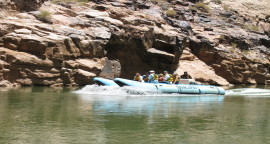 Discount One-Day Whitewater Rafting at Grand Canyon with Helicopter Ride