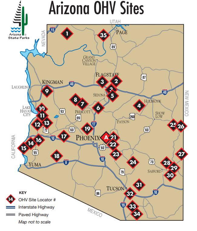 Map Of Arizona Strip.Ohv Visit Arizona