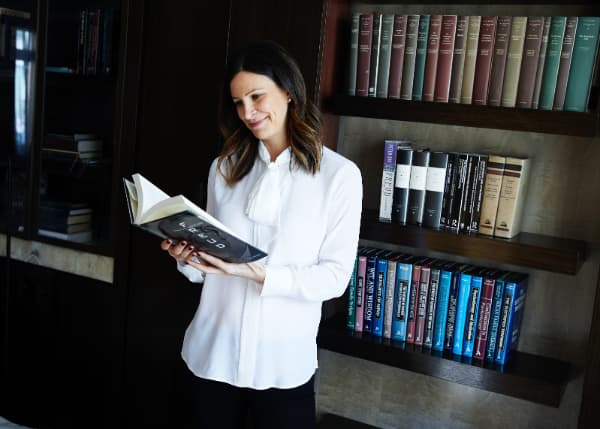 Founder, Dr Sheri Jacobson at her home in London