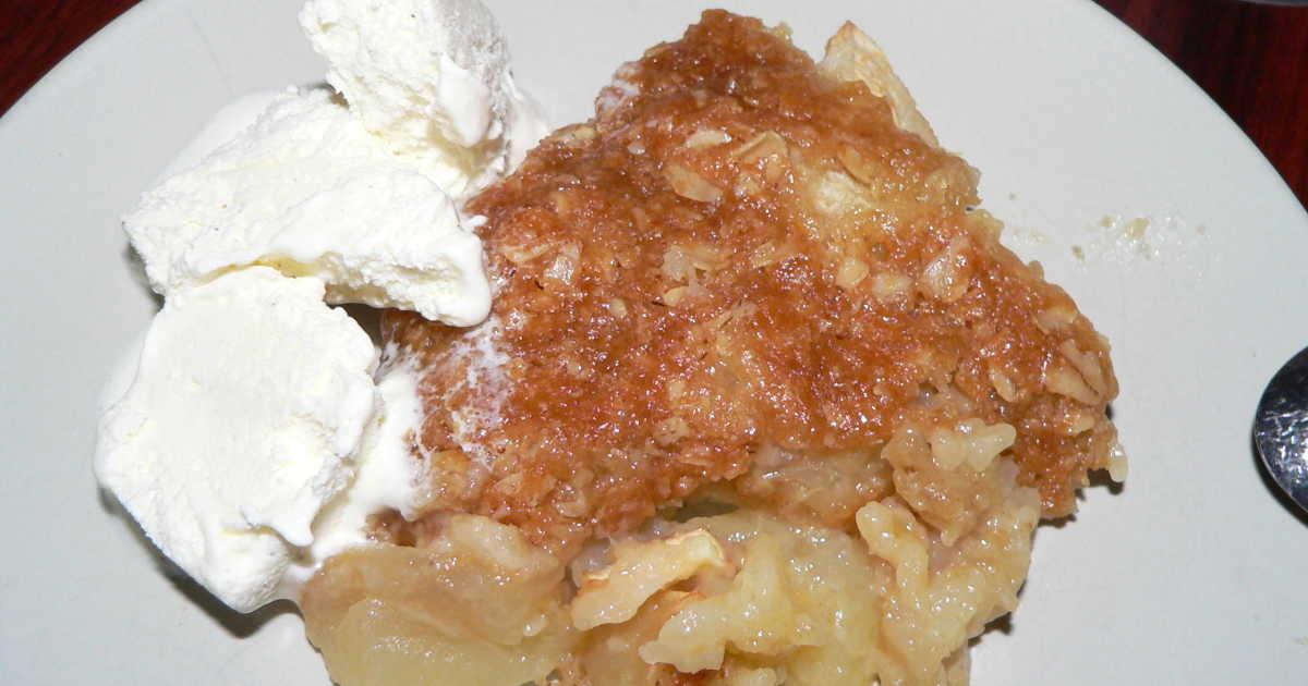 äppelpaj med knäckig yta