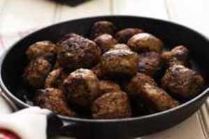 steka köttbullar i ugn
