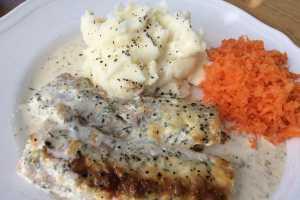 recept fisk i ugn grädde