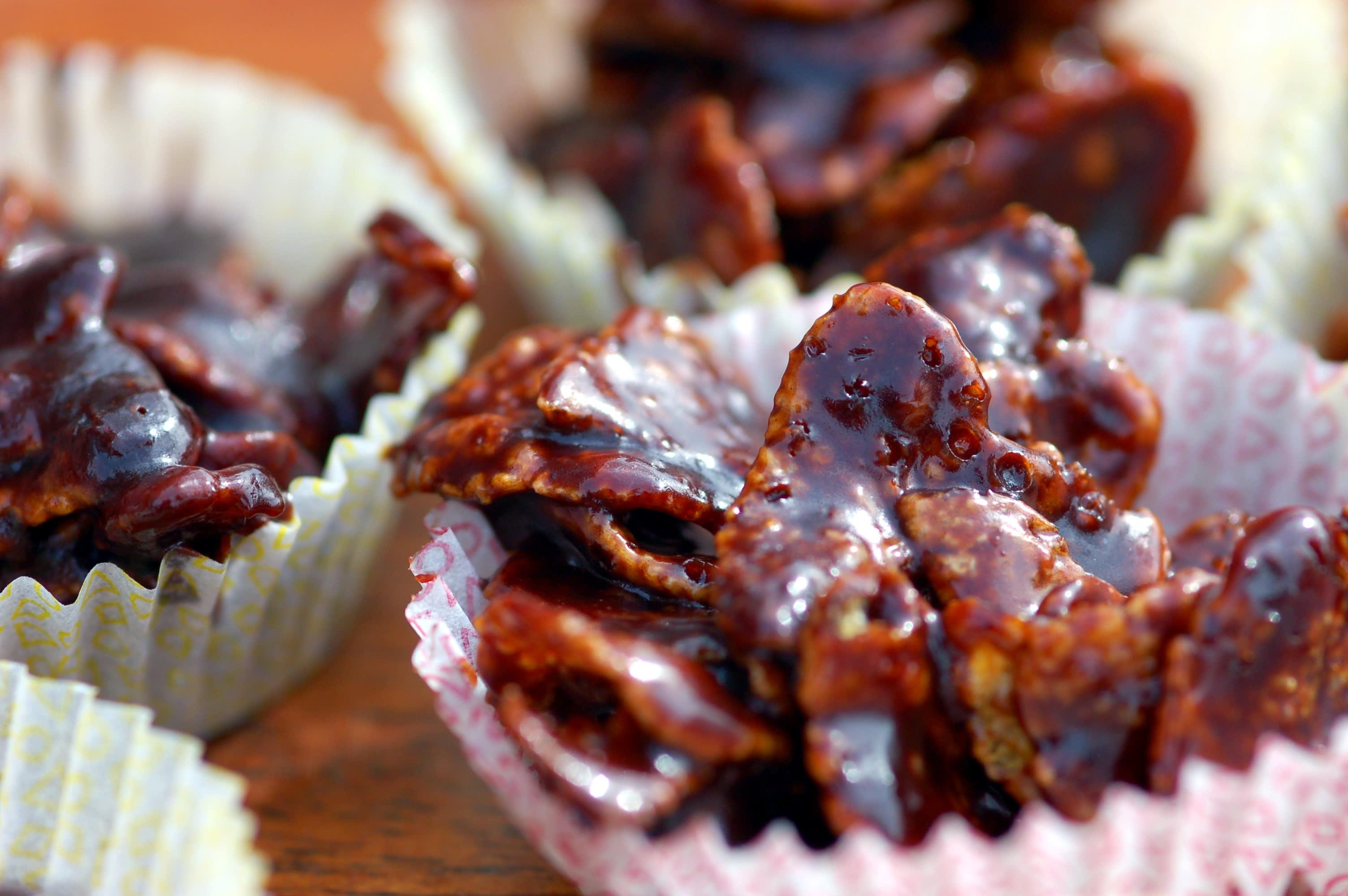 cornflakeskakor med blockchoklad