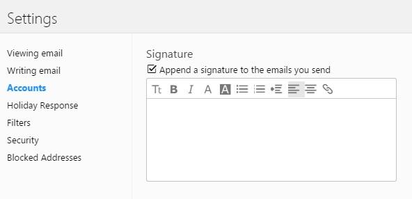 Sky Yahoo Mail Signature