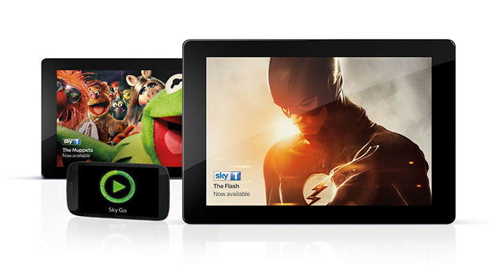 Sky Go devices - tablet and mobile screens