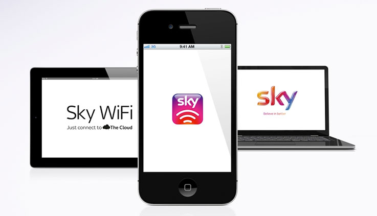 Connect to Sky WiFi at thousands of Cloud WiFi Hotspots throughout the UK