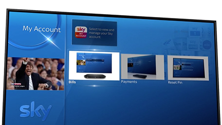 View and pay your bill on Sky Q
