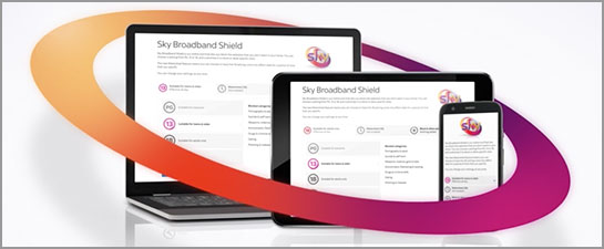 Devices protected by Sky Broadband Shield