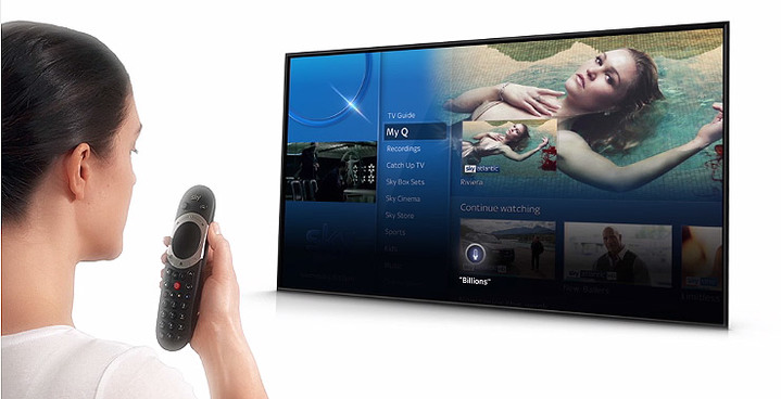 Voice Control with the Sky Q touch remote video