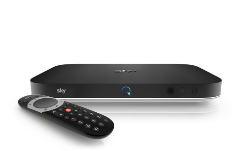 Sky Q 2TB box with a Sky Q touch remote