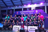 Cambodia Futsal team competes in the...