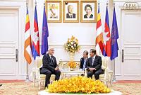 Samdech Techo Hun Sen Meets German...