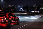 Audi's digital matrix LED headlights...