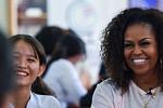 Michelle and Barack Obama portraits...