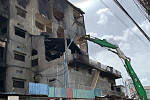 The demolition of a six-storey...