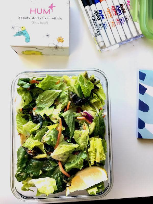 Salad - Registered Dietitian Food Diary - The Wellnest by HUM Nutrition