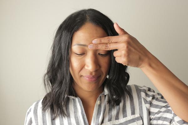 Third-Eye Pressure Point for Headaches - The Wellnest by HUM Nutrition