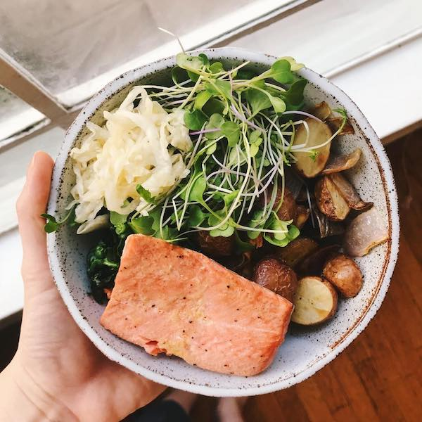 Salmon and Veggies - Whole30 - The Wellnest by HUM Nutrition