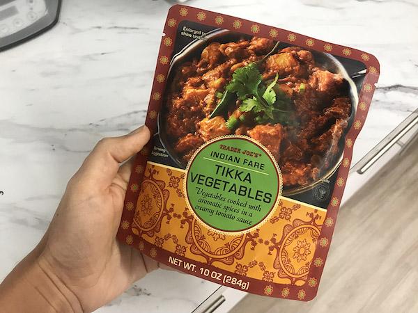 Trader Joe's Tikka Vegetables - Vegetarian Nutritionist - The Wellnest by HUM Nutrition
