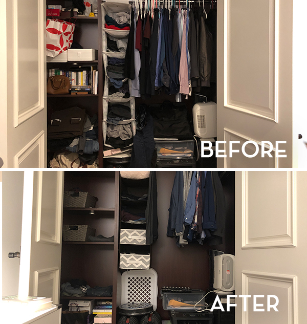 KonMari Closet Before & After - The Wellnest by HUM Nutrition