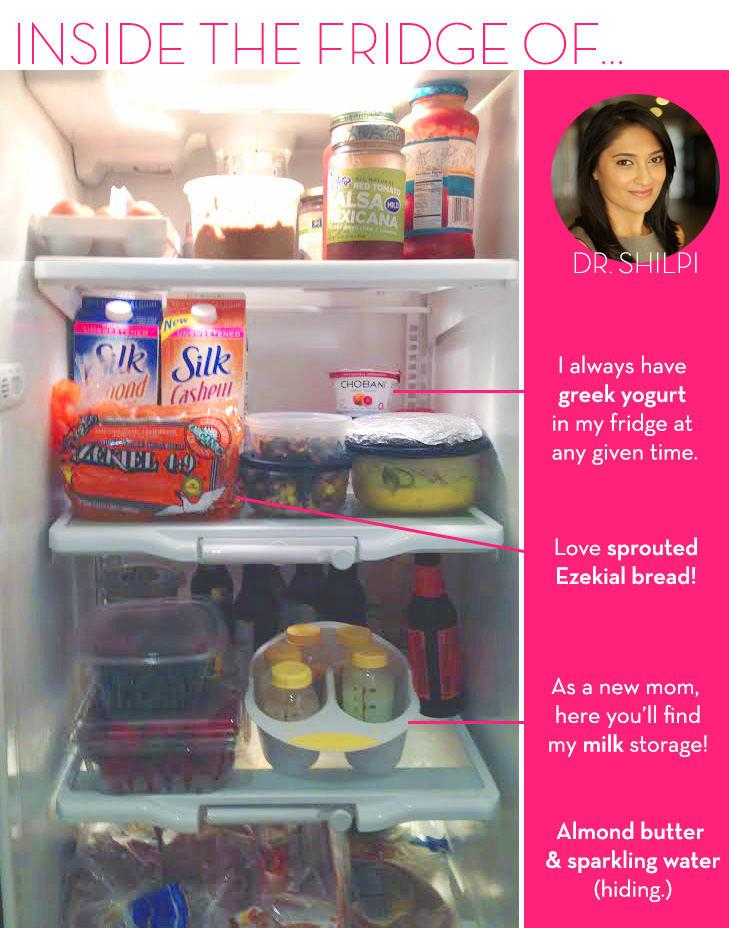 Inside the Fridge of Dr. Shilpi - Holistic Medical Expert - The Wellnest by HUM Nutrition