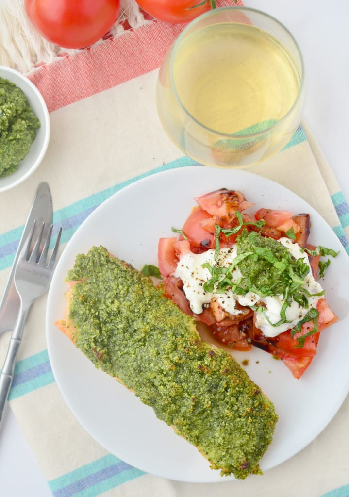 Pesto Salmon recipe for clear skin - The Wellnest by HUM Nutrition