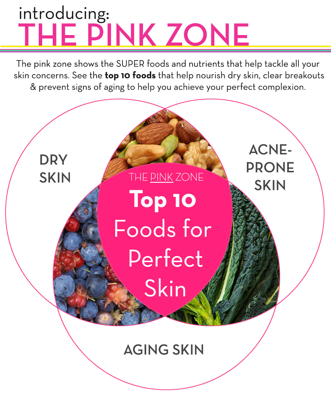 The Pink Zone - Top 10 Skin Superfoods - The Wellnest by HUM Nutrition