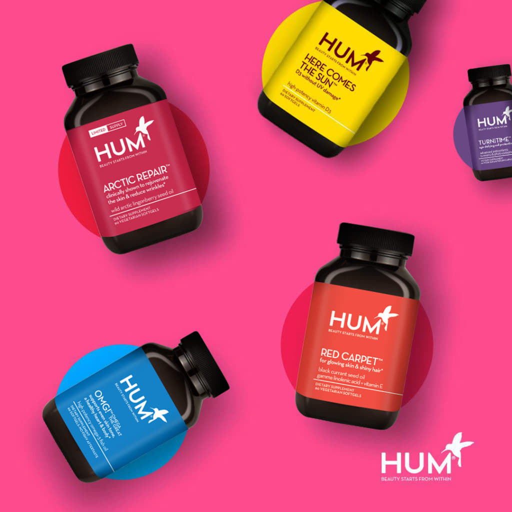 Hydrating HUM supplements help support dry skin and dull skin