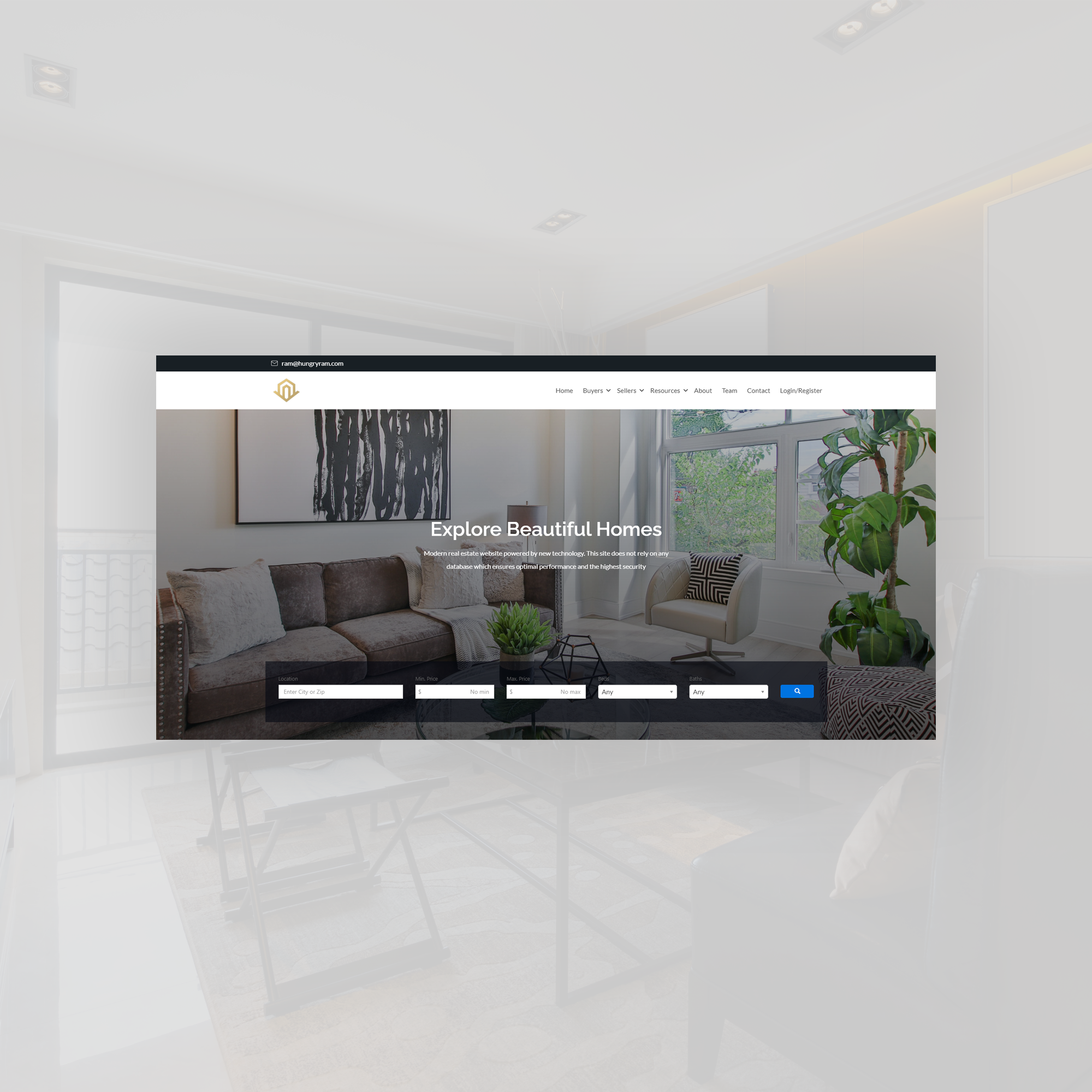Modern real estate website design