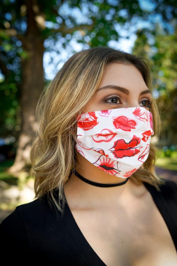 Lipstick Kiss Cotton Face Mask