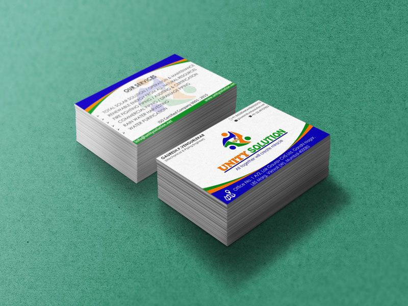 Unity Solution Business Card Image