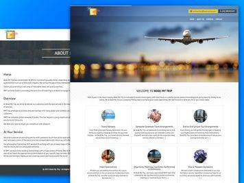 Book My Trip Website Image
