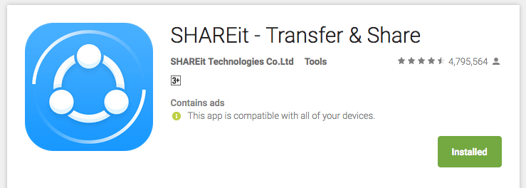 shareit star rating image