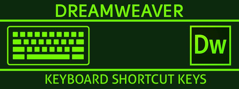 Adobe Dreamweaver CS5 CS6 CC Shortcut Keyboard Keys – Windows PC image